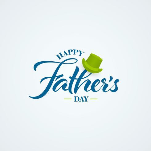 Happy Fathers Day kalligrafie banner vector