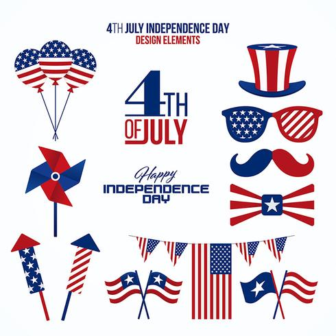 Fourth of July design elements
