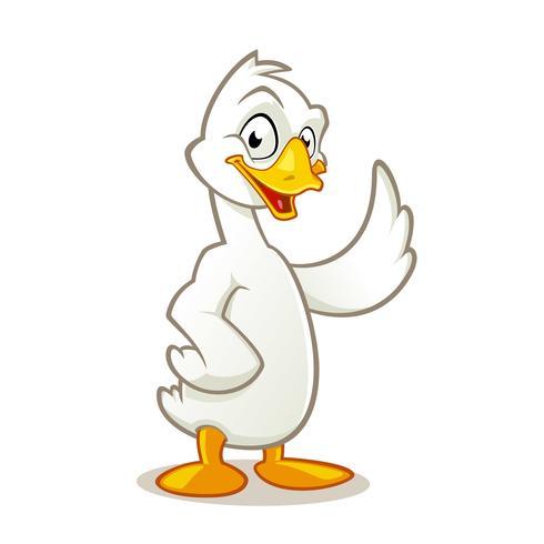 personnage de dessin animé mignon d'oie - Telecharger Vectoriel Gratuit, Clipart Graphique ...