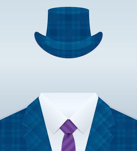 Suit vektor banner närbild på bilden