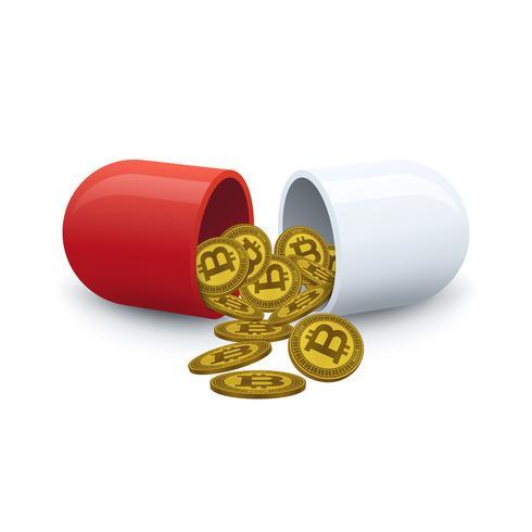 Bitcoins kommer ut ur drogen