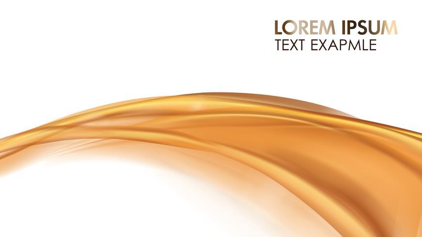 Oranje gouden stromende vloeibare abstracte vector