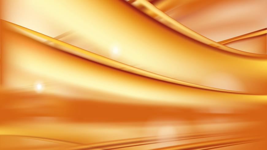 Orange golden flowing liquid abstract vector