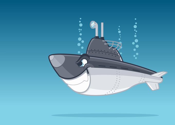 sous-marin militaire de dessin animé