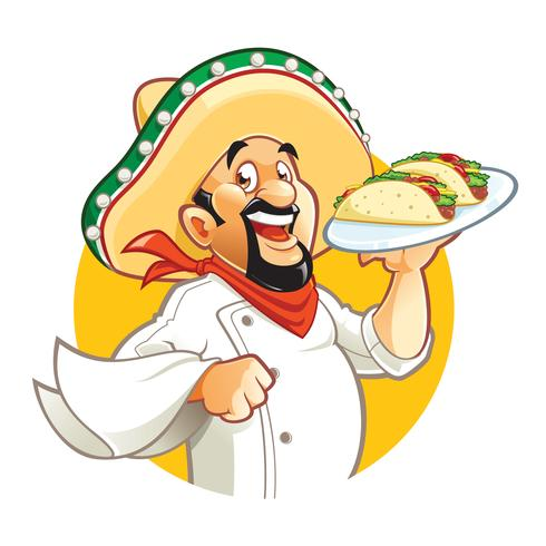 Mexikanische Chefhalteplatte mit Tacos