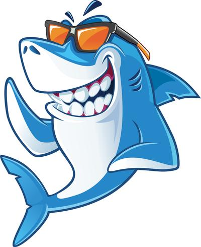 Haai met zonnebril vector