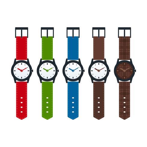 Relojes colección de vectores