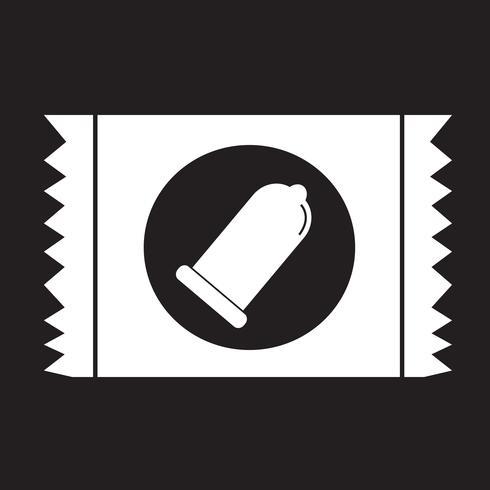 Sinal de proteção de ícone de pacote de preservativo