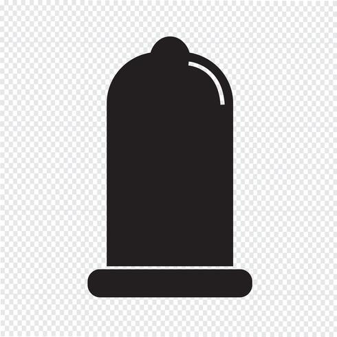 condoom pictogram bescherming teken vector