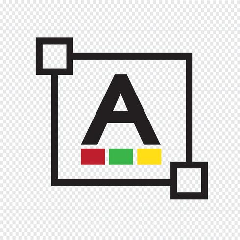 Tekstkleur lettertype letterpictogram bewerken