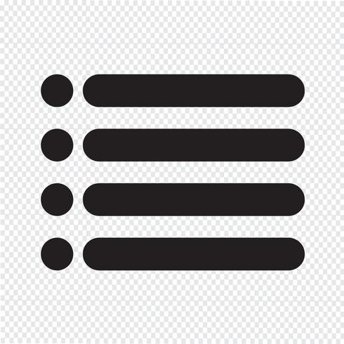 Bulleted list icon sign vector