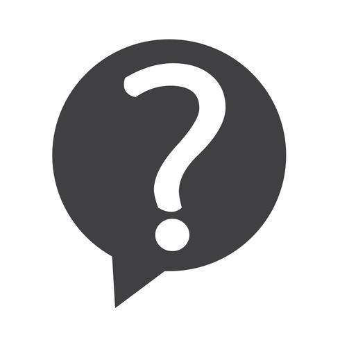 Ícone de sinal de interrogação