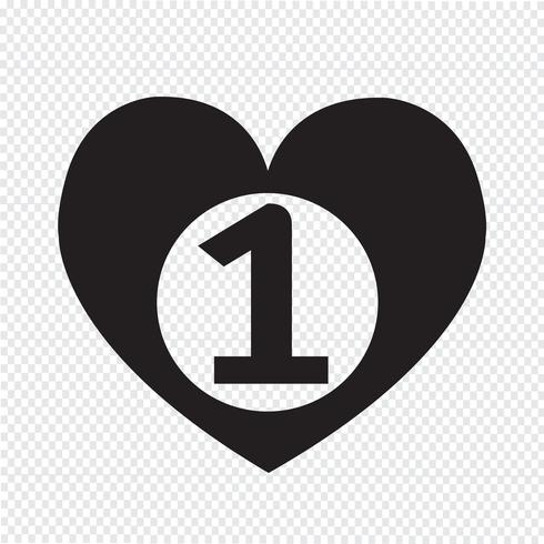 number one heart icon