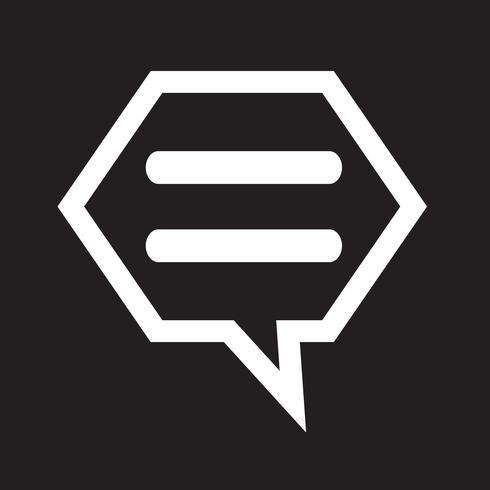 praat bubbel-chat-pictogram
