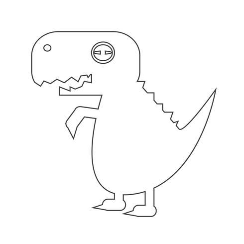 Tyrannosaurus dinosaur icon vector