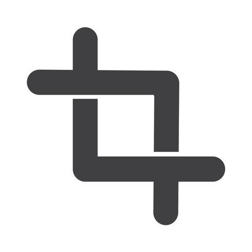 Crop icon sign Illustration