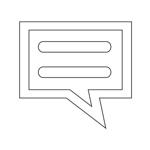 praat bubbel-chat-pictogram vector
