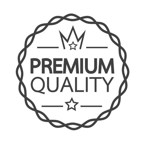 Premium Quality badge icon vector