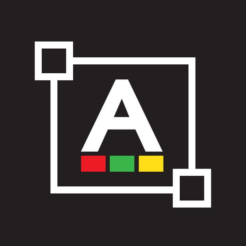 Text  color font edit letter icon vector