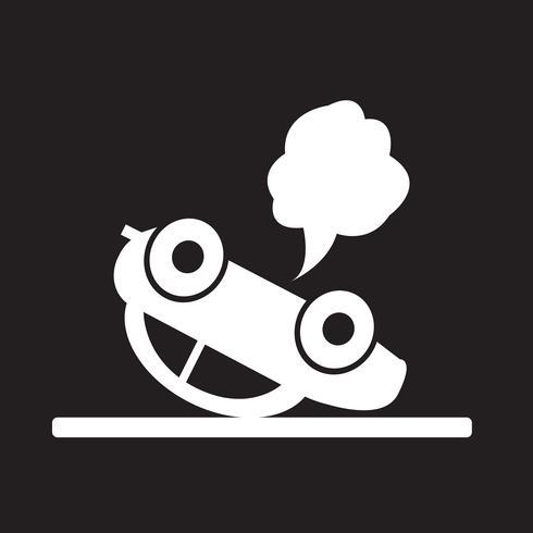 ícone de acidente de carro