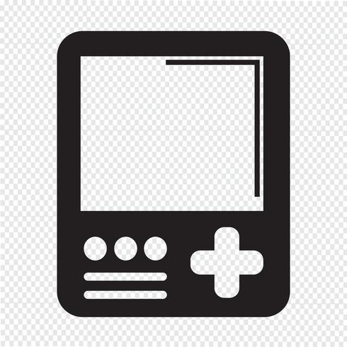 Handheld game console icon vector