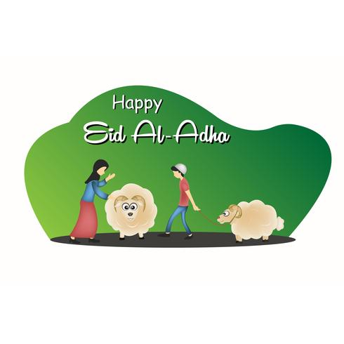eid mubarak character illustration  vector