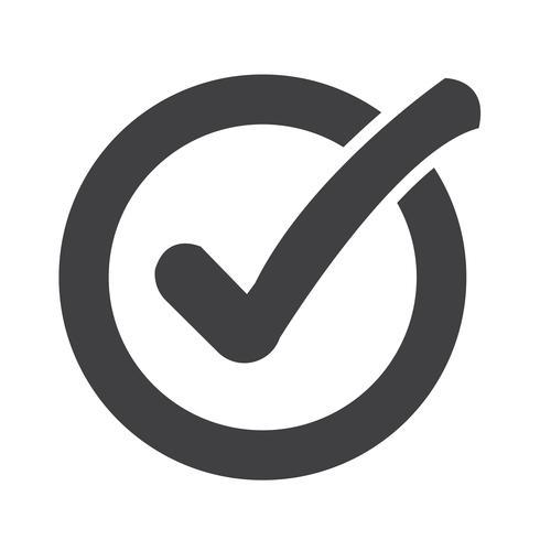 Icono de botón de lista de verificación - Descargar Vectores ...