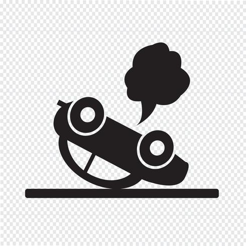 car auto accident icon