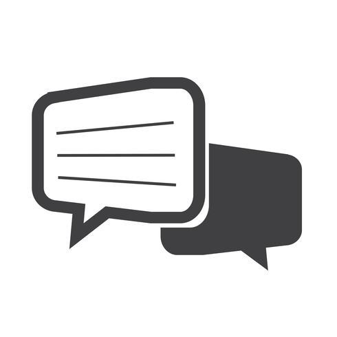 Icono de diálogo de chat