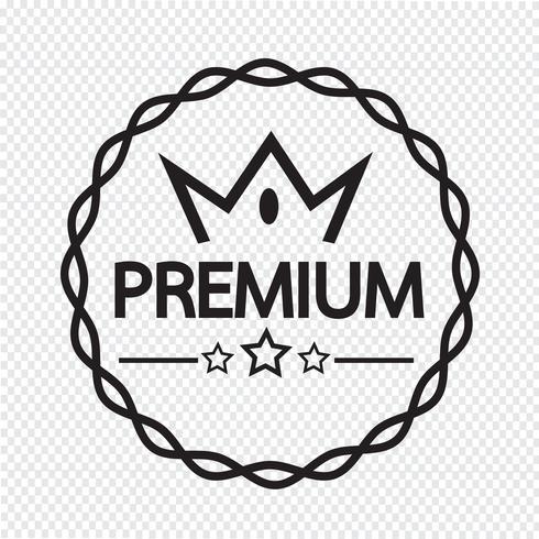 Vintage premium label icon