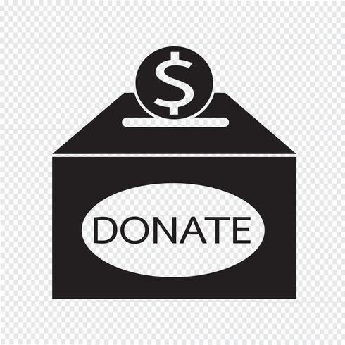 Donation box icon vector