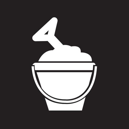 icône de seau de sable