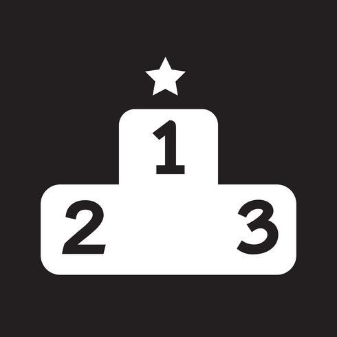 Podium icon  symbol sign