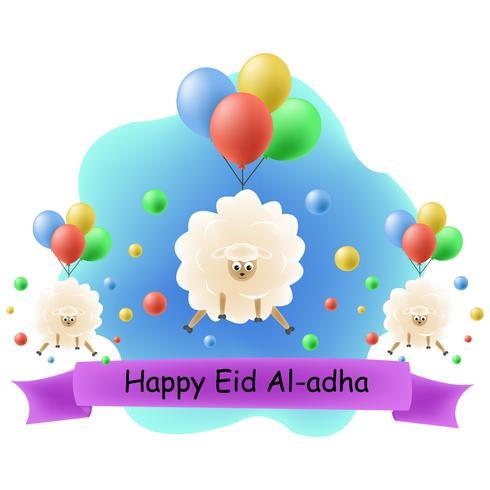 Ilustración de personaje de eid mubarak