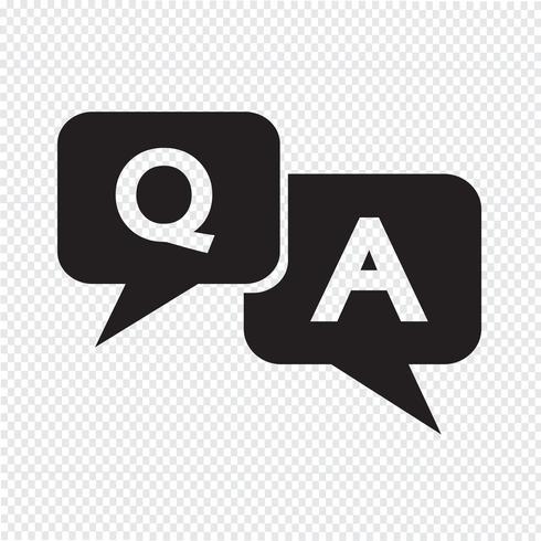 Icono de pregunta de respuesta vector