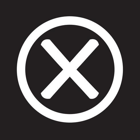 Wrong mark icon vector