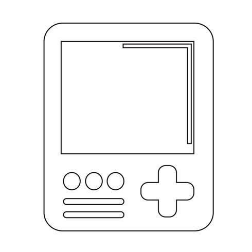 Icono de la consola de juegos portátil vector