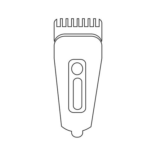 Scheerapparaat symbool hairclipper pictogram