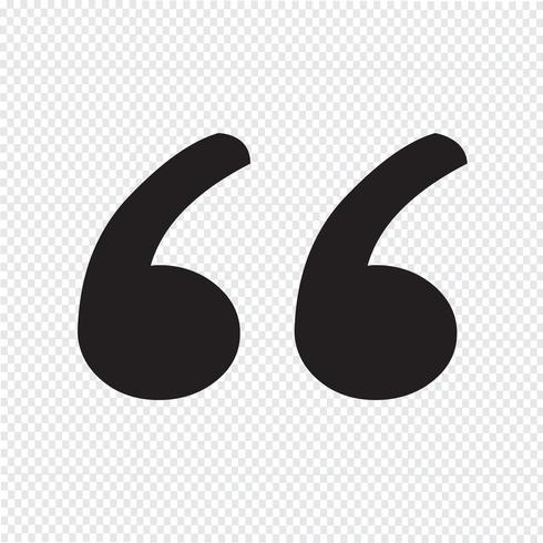Blockquote sign icon Illustration