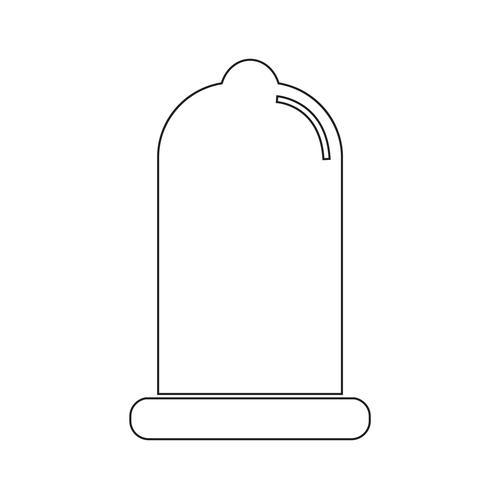 icono de condón signo de protección vector