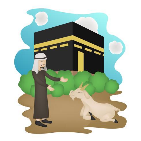 eid mubarak character illustration