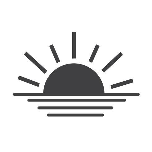 ícone de linha do sol nascer do sol