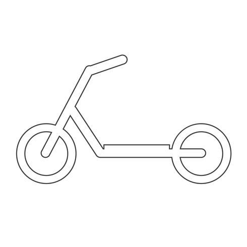 icona di bambini scooter