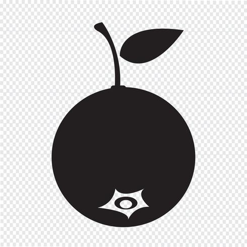 blueberry fruit icon