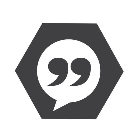 Blockquote sign icon Illustration vector
