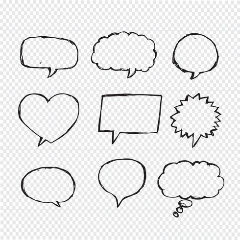 Speech Bubble Sketch dessiné à la main