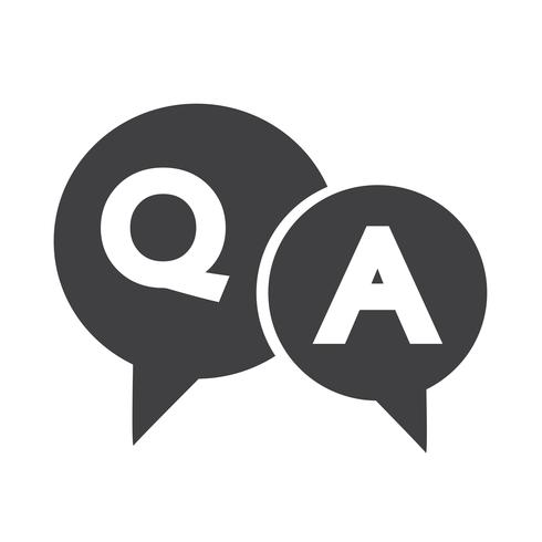 Question and Answer Speech Bubble icon vector