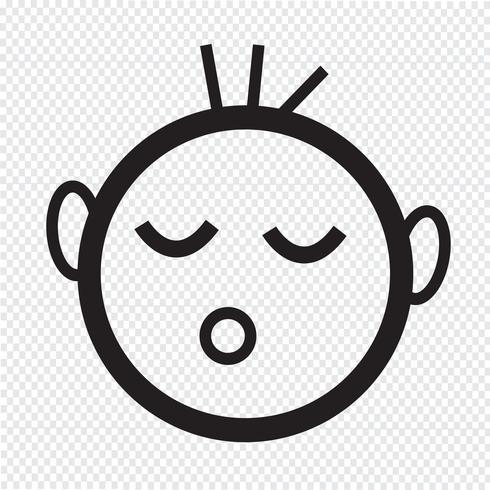 icône de bébé qui dort