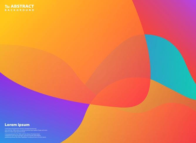 Forme de fond abstrait coloré design. Vous pouvez utiliser pour des annonces, des affiches, des illustrations, des impressions, des impressions fluides vecteur
