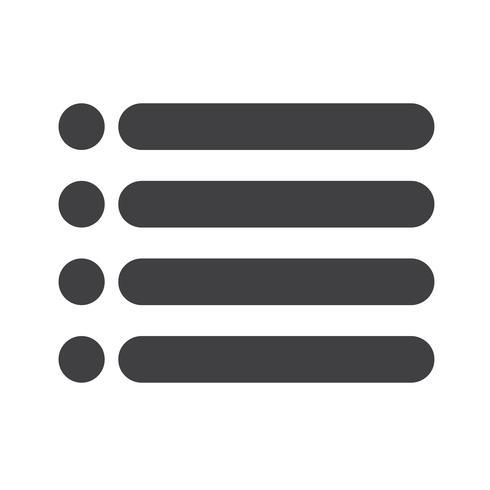 Icono de lista con viñetas vector